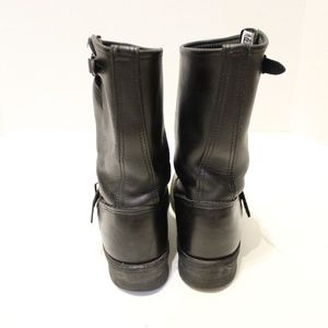 Frye Shoes - Frye Biltrite Leather Motorcycle Boots Buckle